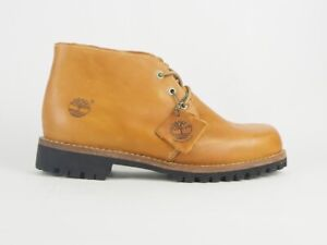 Mens Timberland Earthkeepers Rugged 6747R Wheat Leather Lace Up Chukka Boots