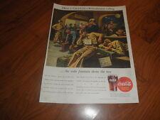 "COCA-COLA AD - 1944- ""Servicemen Depot""-Original Magazine Print"