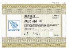 Deinböck Immobilien-Vermögensverwaltung AG histor. DM Aktie München 1993 Bayern