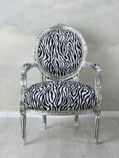 Sessel Antik Armlehnsessel Barock Stuhl Zebra Esszimmerstuhl Barockstuhl Vintage