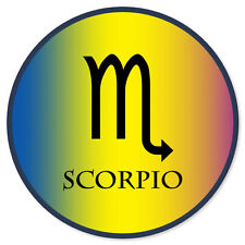 """Scorpio Zodiac Sign car bumper sticker 4"""" x 4"""""""