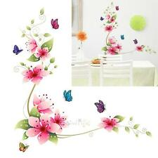 Wall Sticker Living Room Bedroom Hallway Stickers Flower Butterfly Printed New