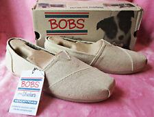 Skechers BOBS Plush Best Wishes women's slip-on ballet flat natural size 7.5 NIB