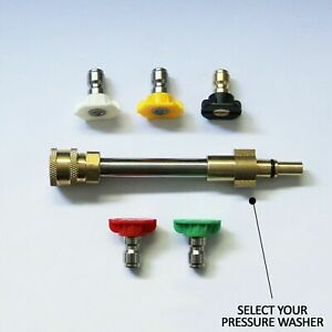 """Conversion Universal 1/4"""" Quick Connect Kit for Pressure Washer with Jet Nozzles"""