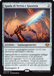 MTG SWORD OF TRUTH AND JUSTICE FOIL EXC SPADA DI VERITÀ E GIUSTIZIA