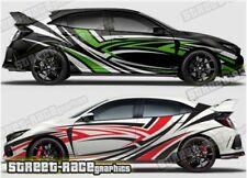 Honda Civic Rally 020 racing motorsport graphics stickers decals vinyl
