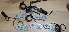lot 6 SNES Style USB Controller game pad, Sega Saturn, Raspberry Pi