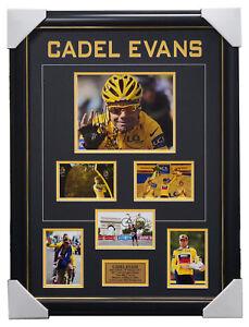 Cadel Evans Signed 2011 Tour De France Champion Photo Collage Framed + COA