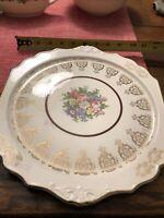 Royal China Warranted 22 Karat Gold, Serving Platter And Bowl, 6 Plates, Sm Bowl
