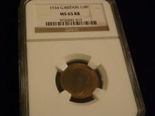1934      1/4 P    Great Britain       NGC MS 65 RB