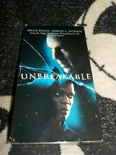 Unbreakable Vhs Tape Bruce Willis Samuel L Jackson Free Shipping