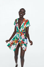 Z ZARA TRF FLORAL PRINT DRESS TROPICAL PALM LEAF M MEDIUM 10 6 3