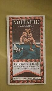 voltaire : micromegas - la biblioteca di babele franco maria ricci 1979