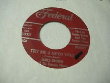 James Brown Try Me(I Need You)/Tell Me What I Did Wrong 1958 red label odd press