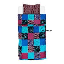 IKEA Twin Duvet Quilt Cover pillowcase NATVIDE Multicolor Patchwork pattern New