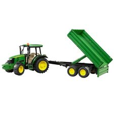 Bruder John Deere 5115M Toy Tractor and Tipping Trailer