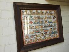 Vintage Balinese Art CALENDAR( Palintagan) Painting on Canvas Carved Fram 1970's