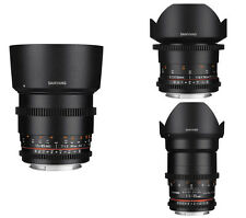 Samyang VDSLR II Cine Lens for Canon - 85mm, 35mm,14mm - 3PCS -Free Ship