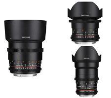 Samyang VDSLR II Cine Lens for Canon - 85mm, 35mm,14mm - 3PCS -Free Ship