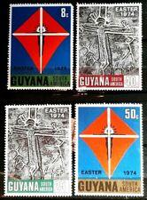 1974 Guyana Full Set Of 4 Stamps - Easter - MNH