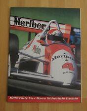 Indy Car Racing--1992 Poster Schedule--Marlboro