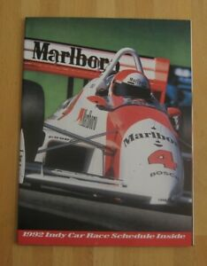 Indy Car Racing--1992 Poster Schedule--Marlboro