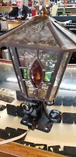 Tiffany Style Stained Glass Light Set Of 2 4x4 Post Cap