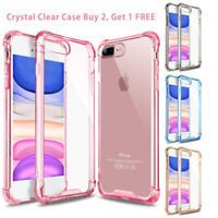 For iPhone 8 Plus 7 XR 11 Pro Max XS Clear Defender Case Bumper Shockproof Cover