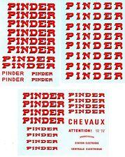 Acpd1 - Planche Décalcomanies Pinder pour Véhicules 1/50 ou 1/43