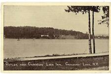 Outlet From CRANBERRY LAKE Inn NEW YORK Vintague Unused Postcard