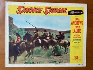 Smoke Signal 1955 Lobby Card Poster #4 Dana Andrews, Piper Laurie