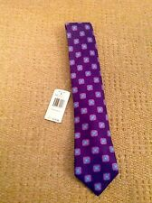 IKE BEHAR NEW YORK STUNNING HAND MADE PURPLE SILK TIE BNWT