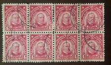 Philippines stamp pair of  #290 block of 8  used hinged..