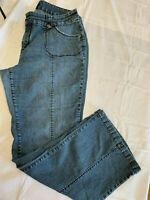 Duplex by Tyte Women's Blue Wide Leg Boot Cut Jeans/Pants Size 20W - 5002