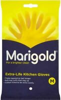 Marigold Rubber Gloves Classic Yellow Latex Rubber Lined small Medium Large Uk