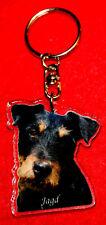 porte-cles chien jagd terrier 3 dog keychain llavero perro schlusselring hund