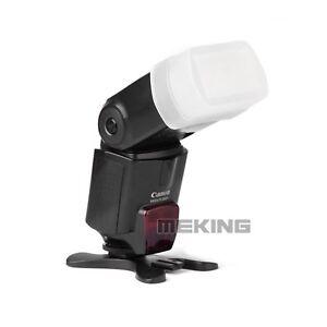 White Flash Dome Diffuser for Canon 430EX 580EX Sigma EF-610 EF-530 YN560