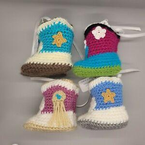 Handmade Baby Booties - Crochet Cowboy or Cowgirl Booties