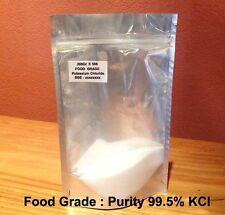 200g  KCl - Food Grade Potassium Chloride  E508 , salt substitute - Vegan,