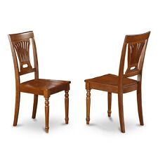 kitchen dining Chair with Wood Seat - Saddle Brown Finish, Set of 2 NEW