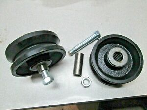 """4"""" inch V Groove Caster Wheels For Rolling Sliding Gates Sawmill Build 2 Pack"""