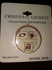 Charms Set School Days Msrp $29.99 Creativity Lockets Fine Silver Plate Floating