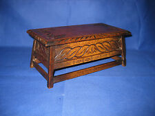 Antique Swiss Thorens Music Box 1900s Black Forest Oak Trinket Box