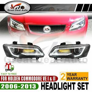 LED DRL Head Light w/ Sequential Indicator For Holden Commodore VE 1&2 2006-2013