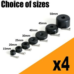 4x Furniture Feet Glides Plastic Screw in Chairs Sofas Beds Sliders Gliders. UK