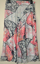 LADIES M&S PER UNA FLORAL PRINT CHIFFON LONG SKIRT A LINE SIZE 10 L33 MULTI BNWT