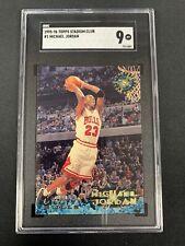 1995-96 Stadium Club Michael Jordan #1 SGC 9 Near Mint Chicago Bulls 021