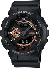 Casio G-SHOCK GA110RG-1A Ana-digi Black / Rose Gold X-Large Watch