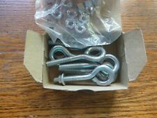 LOT 10 CHICAGO HARDWARE TURNED EYEBOLTS WITH NUTS 5/16