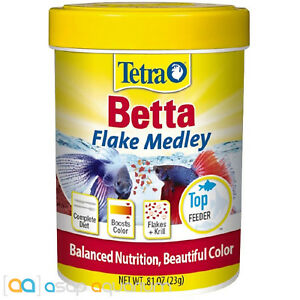 Tetra Betta Flake Medley BettaMin 0.81 oz Fish Food Fast Free USA Shipping